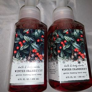 2 winter cranberry hand soaps 🧼
